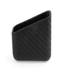 Car Black Carbon Fiber Soft Plastic Pillar Pocket Holder for Mobile Phone