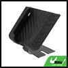 Car Black Carbon Fiber Plastic Self Adhesive Tape Mobile Phone Storage Holder
