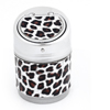 Black Coffee Color Leopard Print Cigarette Holder Ashtray for Auto Car