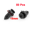 Car Bumper Fender Black Plastic Rivets Retainer Stem Clip 50 Pcs for Honda