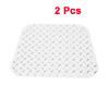 2 Pcs Silver Tone Aluminum Car Non-slip Carpet Mat Pad Plate Pedal Foot Rest