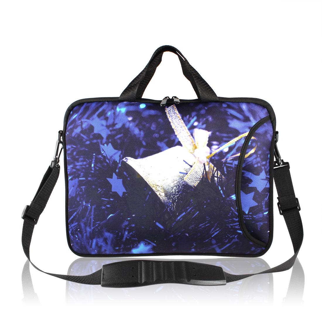 """17"""" Christmas Bell Pattern Notebook Laptop Shoulder Handle Bag Case"""