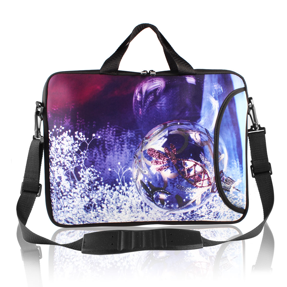 "17"" Christmas Ball Prints Messenger Shoulder Bag Sleeve Case Cover for PC Laptop"