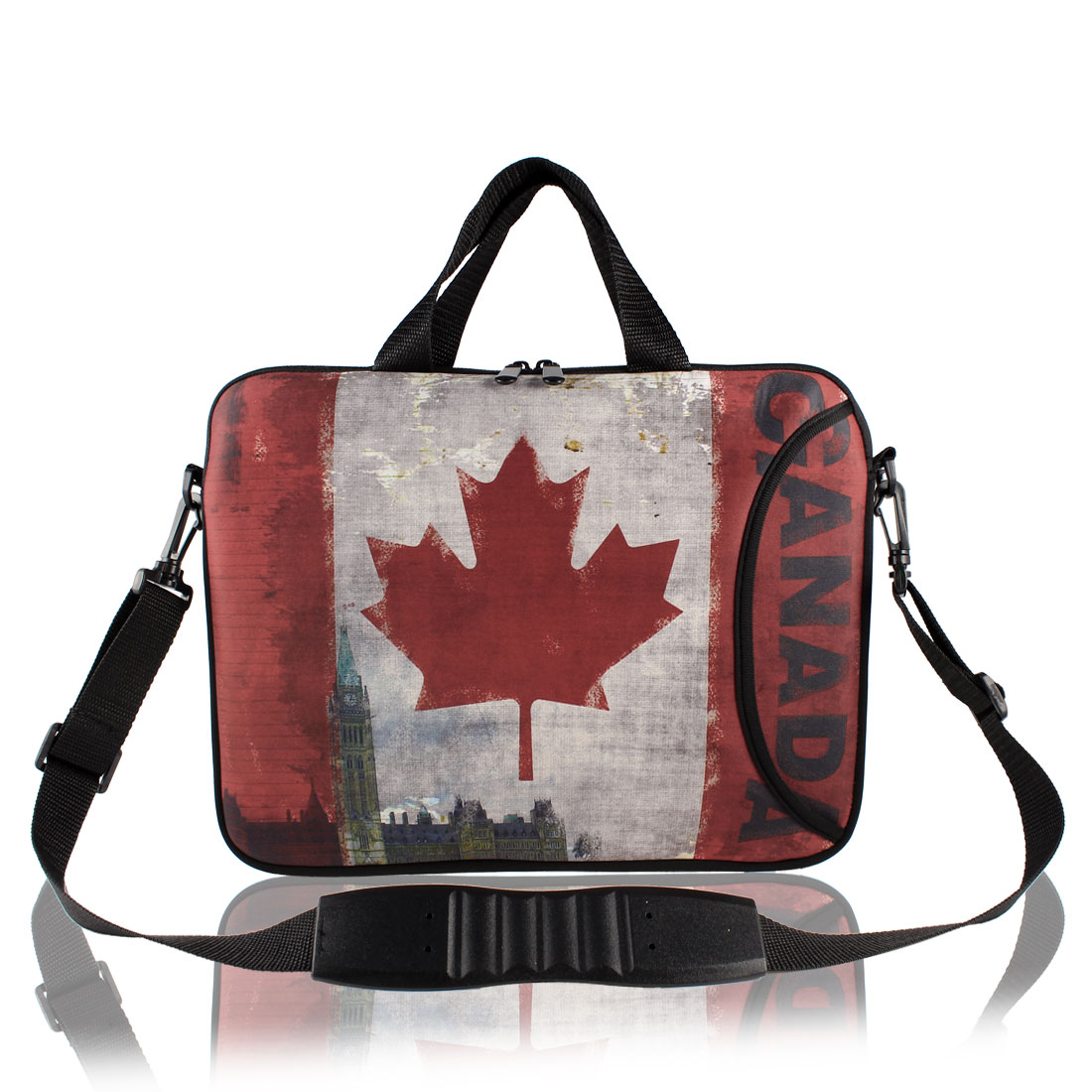 """17"""" Canadian Flag Prints Messenger Shoulder Bag Sleeve Case Cover for PC Laptop"""