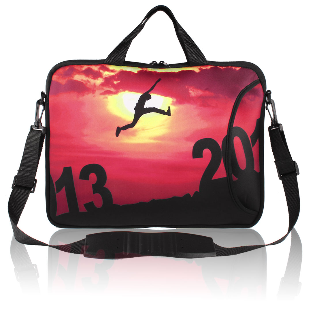 """Setting Sun Pattern Shoulder Bag Pouch Sleeve Case Cover for 17"""" Laptop"""