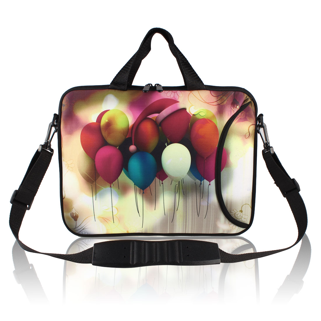 "17"" Balloon Pattern Neoprene Laptop Shoulder Handle Bag Case"