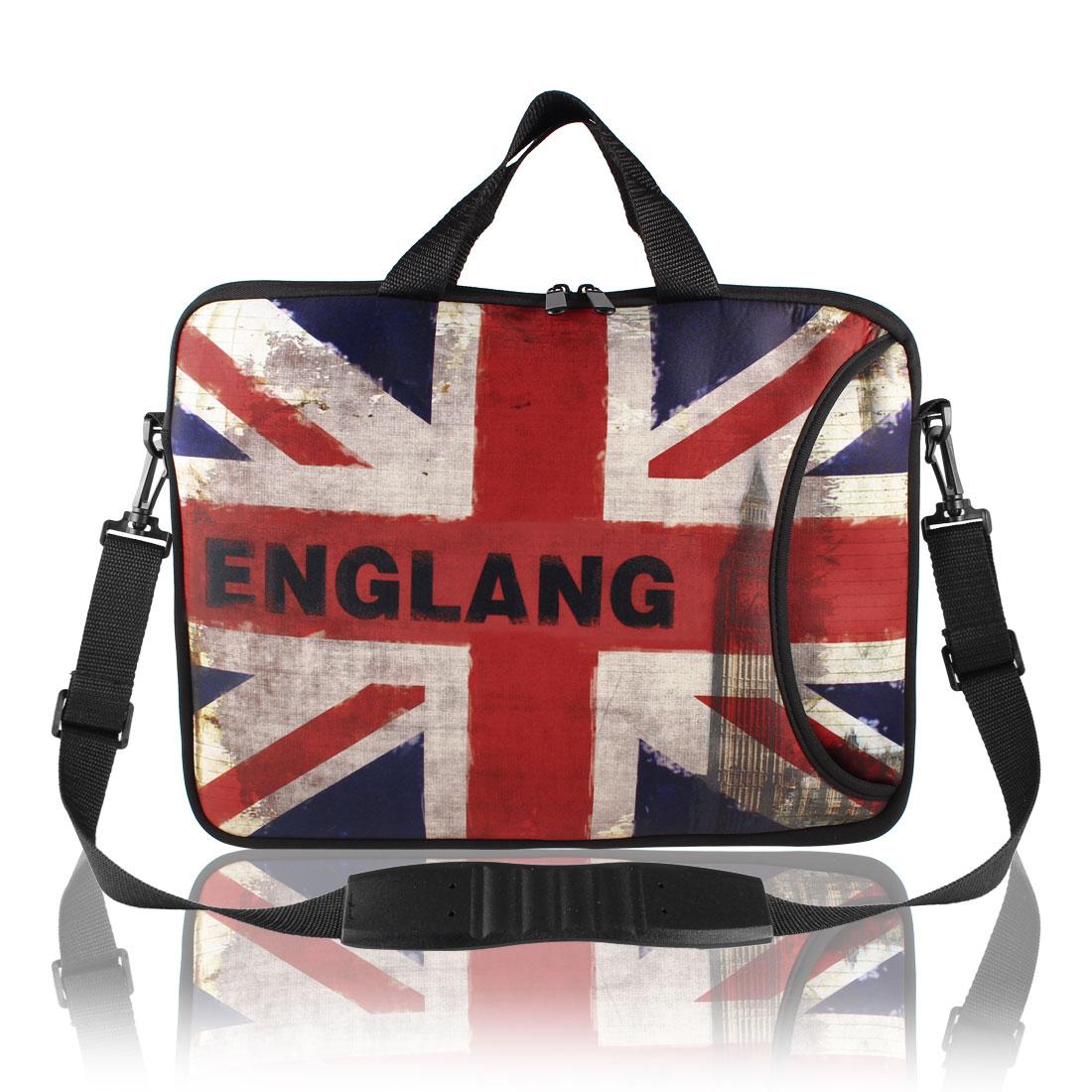 "15"" 15.6"" 15.4"" Letter Pattern Laptop Shoulder Bag Case Pouch w Hand Strap"