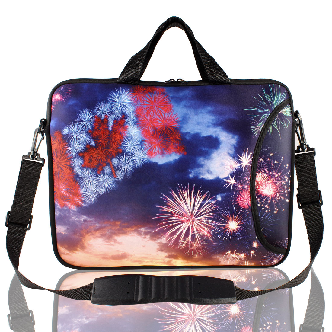 "Christmas Fireworks Shoulder Bag Pouch Sleeve Case Cover for 15"" Laptop"