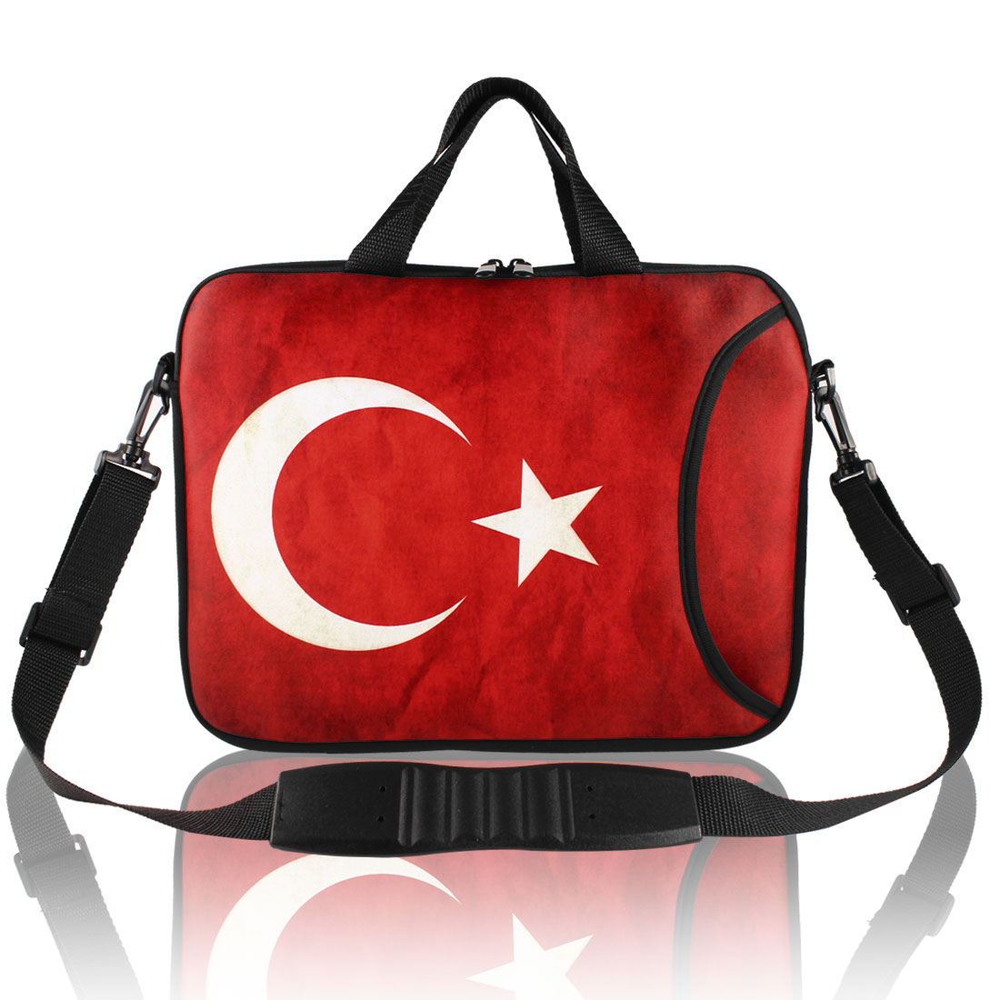 "Turkey Flag Pattern Shoulder Bag Pouch Sleeve Case Cover for 15"" 15.6"" Laptop"