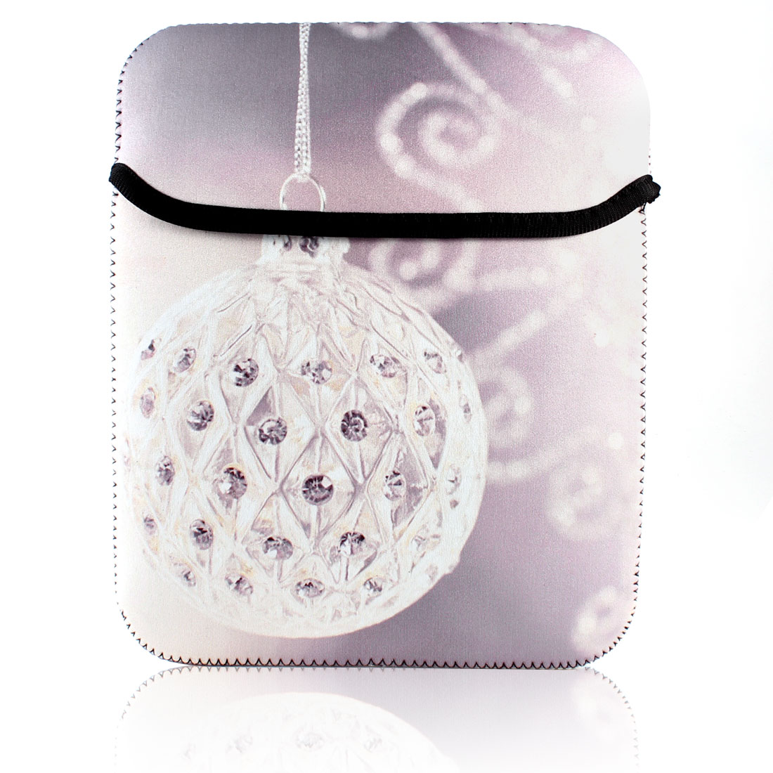 "10"" Lavender Rhinestone Ball Printed Laptop Notebook Sleeve Case Cover"