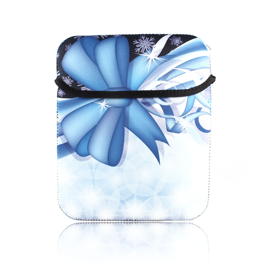 10 Inches White Blue Snowflake Printed PC Sleeve Bag Guard Pouch Case