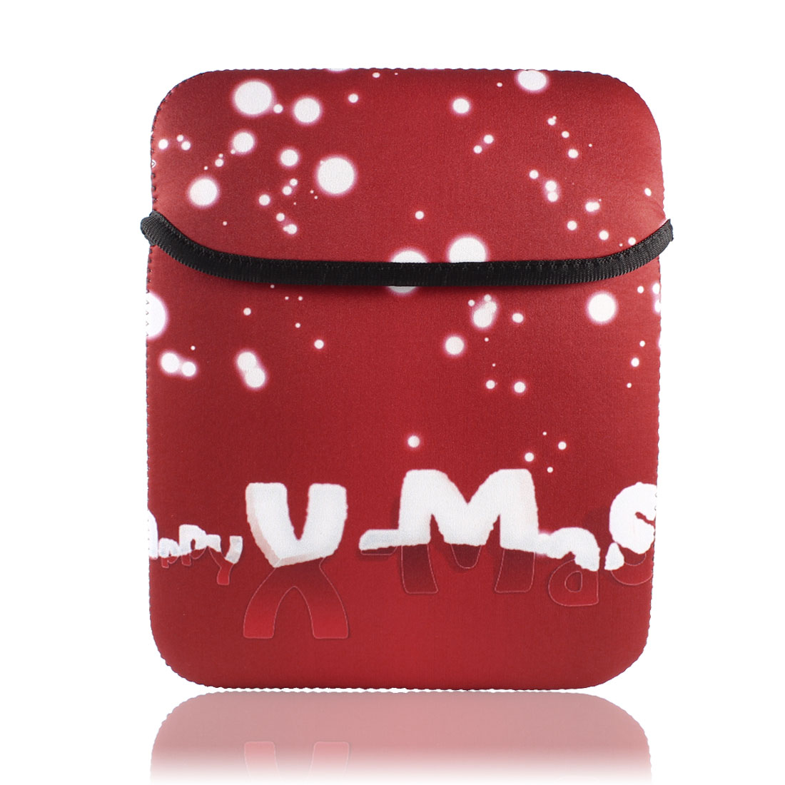 """Christmas Gift White Dots Sleeve Bag Pouch Case Cover Red for 9"""" 9.7"""" 10"""" Tablet PC Laptop"""