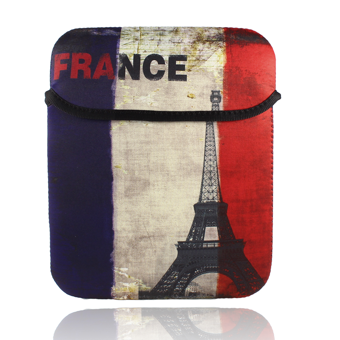 "10"" Retro Style France National Flag Printed Notebook Sleeve Bag Pouch Case"