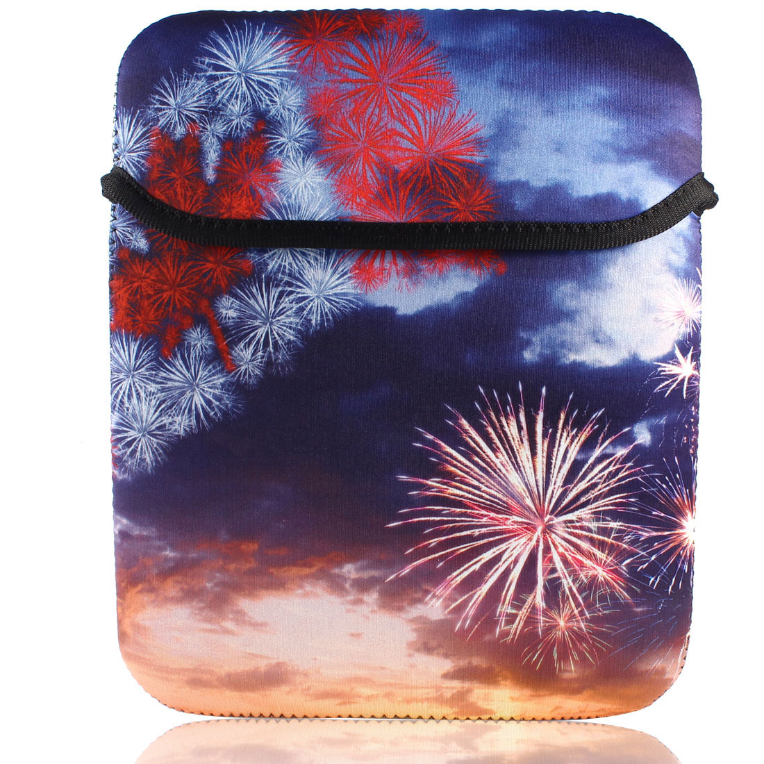 "Christmas Fireworks Sleeve Bag Pouch Case Cover for 10"" Tablet PC Laptop"