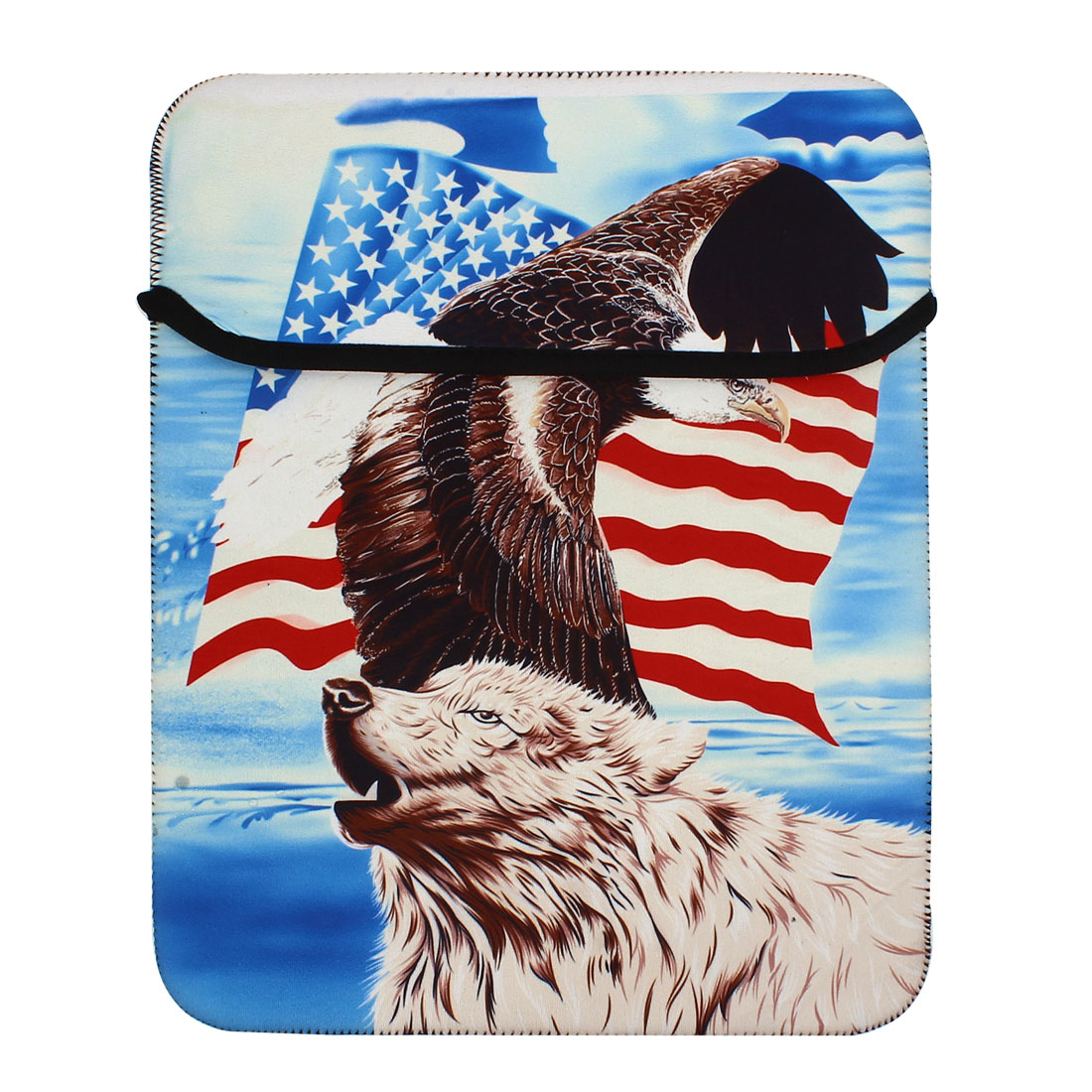 "10"" Eagle Prints Sleeve Bag Pouch Case Cover for Tablet PC Laptop"