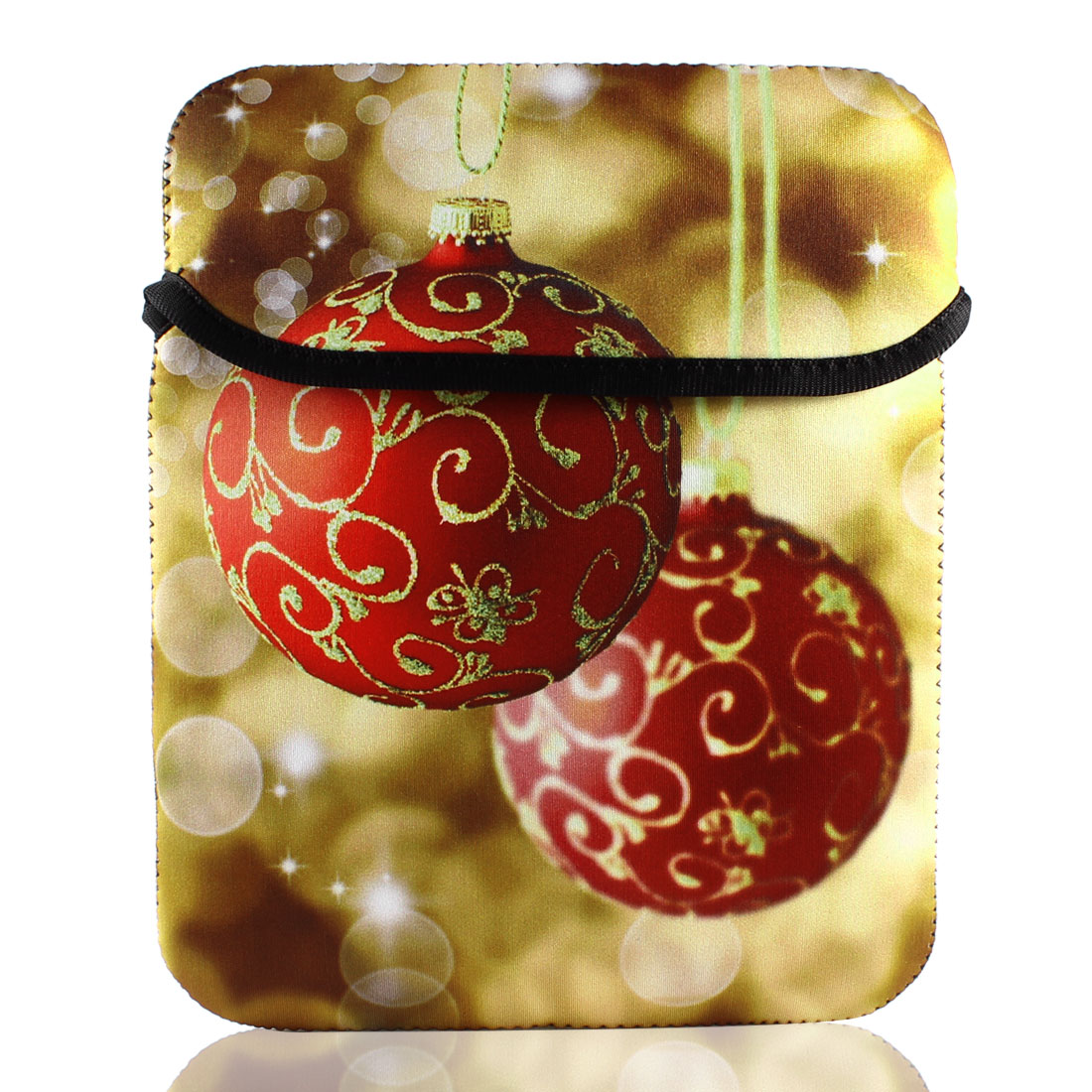 "10"" Xmas Ball Sleeve Bag Pouch Case Cover for Tablet PC Laptop"