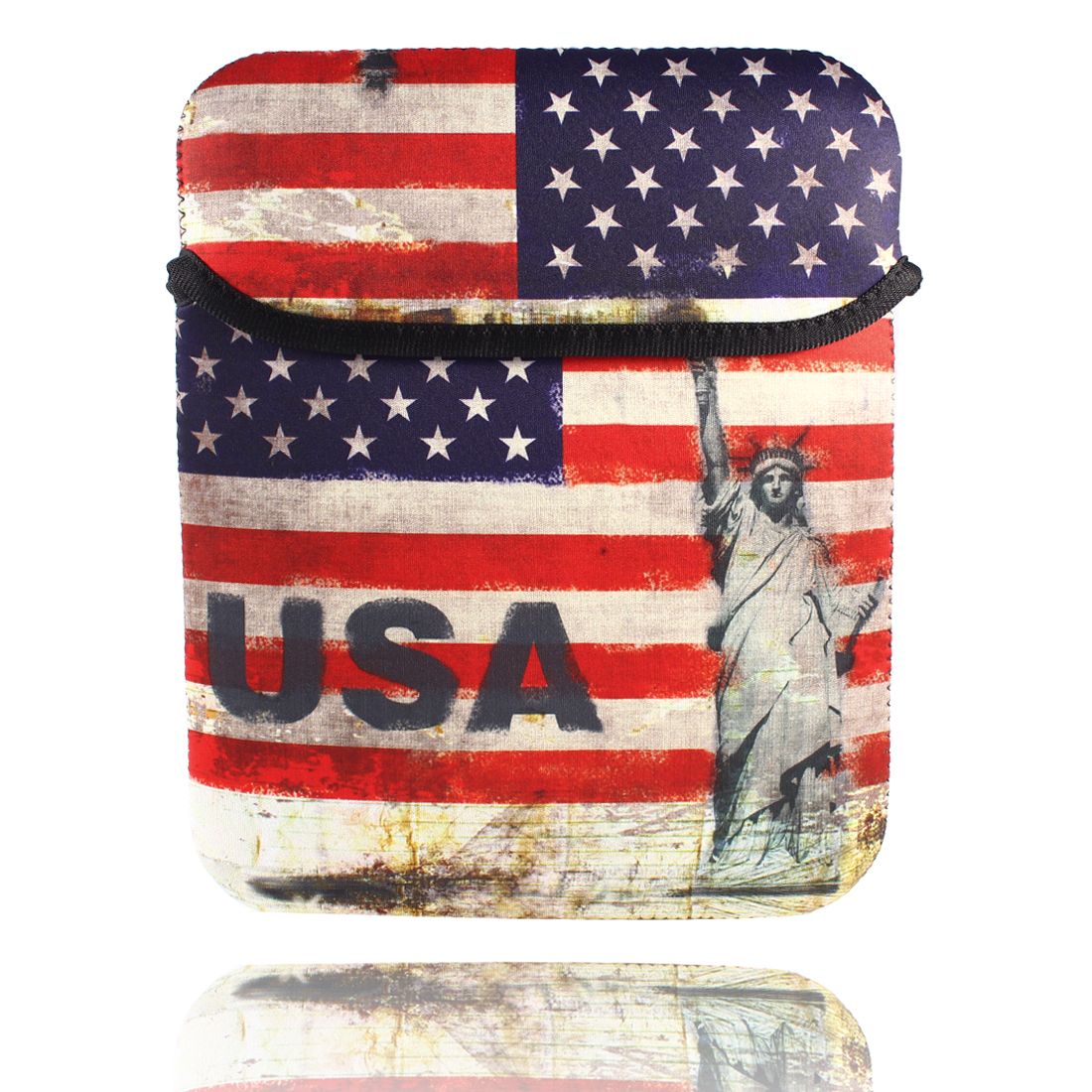 "9"" 9.7"" 10"" USA Flag Bag Pouch Sleeve Case Cover for Tablet PC Laptop"
