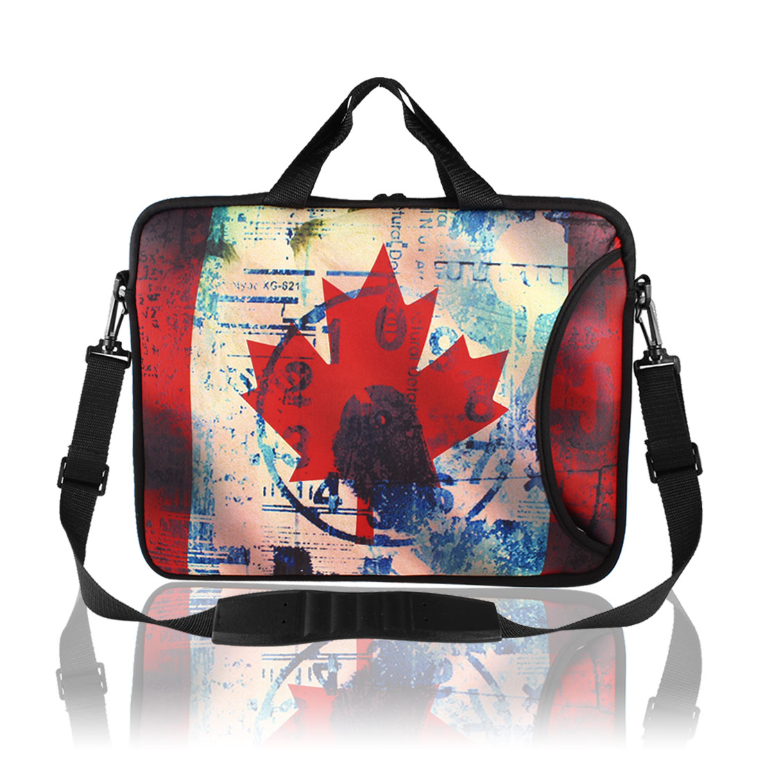 "Canadian Flag Pattern Shoulder Bag Pouch Sleeve Case Cover for 15"" Laptop"