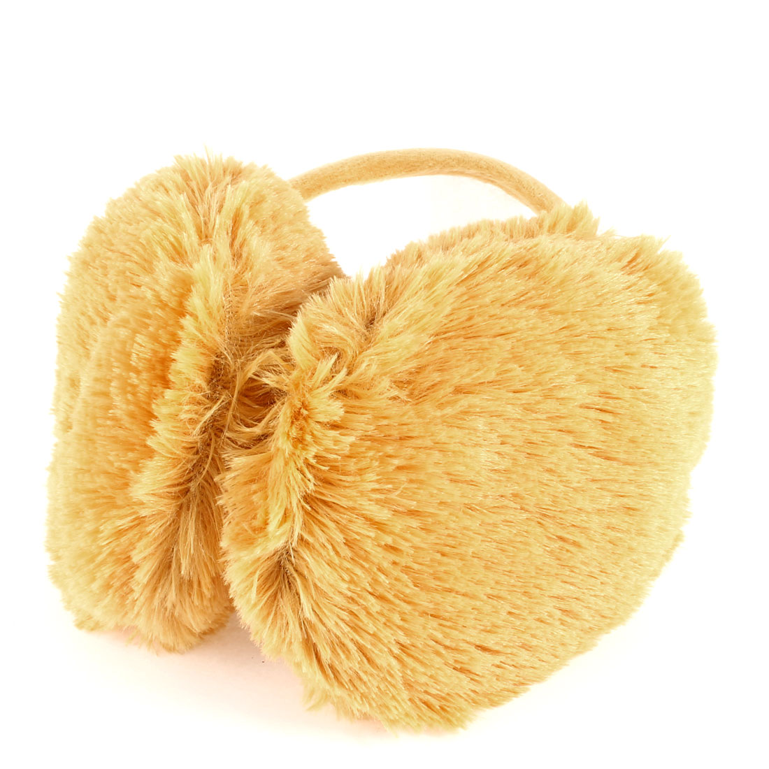 Kids Plush Ear Warmers Muffs Fluffy Ear Covers Earmuffs Yellow