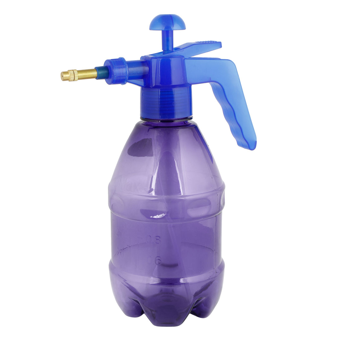 1.5L Capacity Hand Press Watering Sprayer Clear Purple for Garden