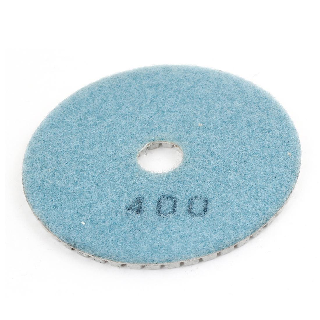 16x100x4mm 400 Grit Teal Blue Gray Tile Polisher Diamond Polishing Pad