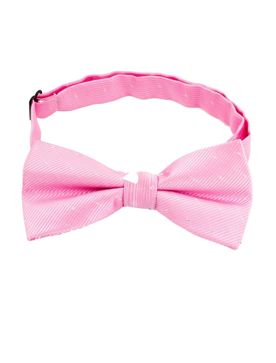 Men Party Dots Pattern Adjustable Strap Bow Tie Bowtie Pink