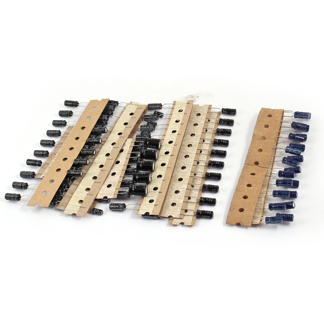 100 Pieces 8 Value 0.22uF-470uF Electrolytic Capacitors Assortment Kit Set