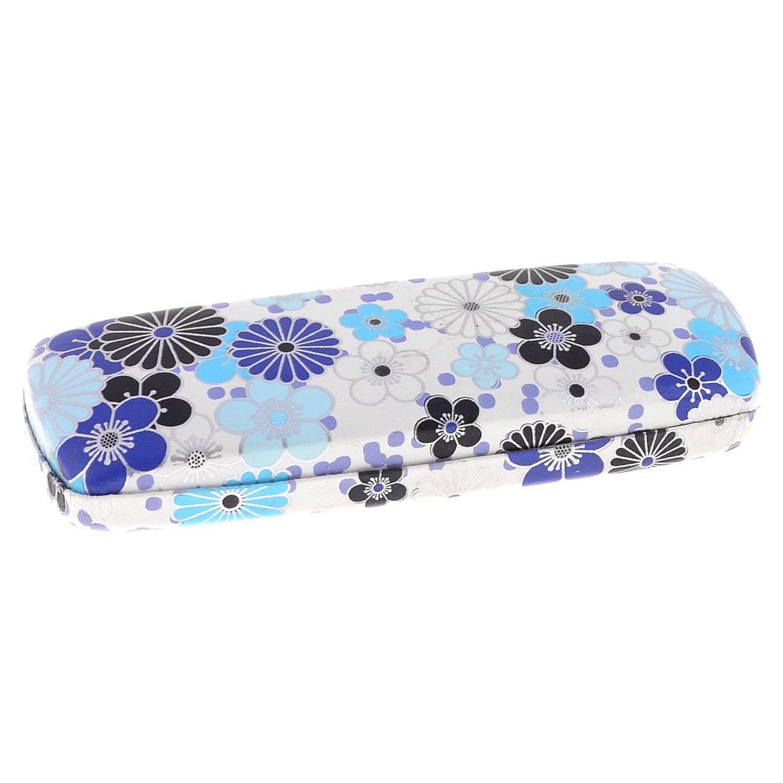 """6.1"""" Length Spring Hinge Design Flannel Lining Faux Leather Warpped Glasses Box"""