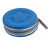 Portable 40pcs CD DVD VCD Disc Zipper Closure Plastic Bag Case Blue w Hand Strap