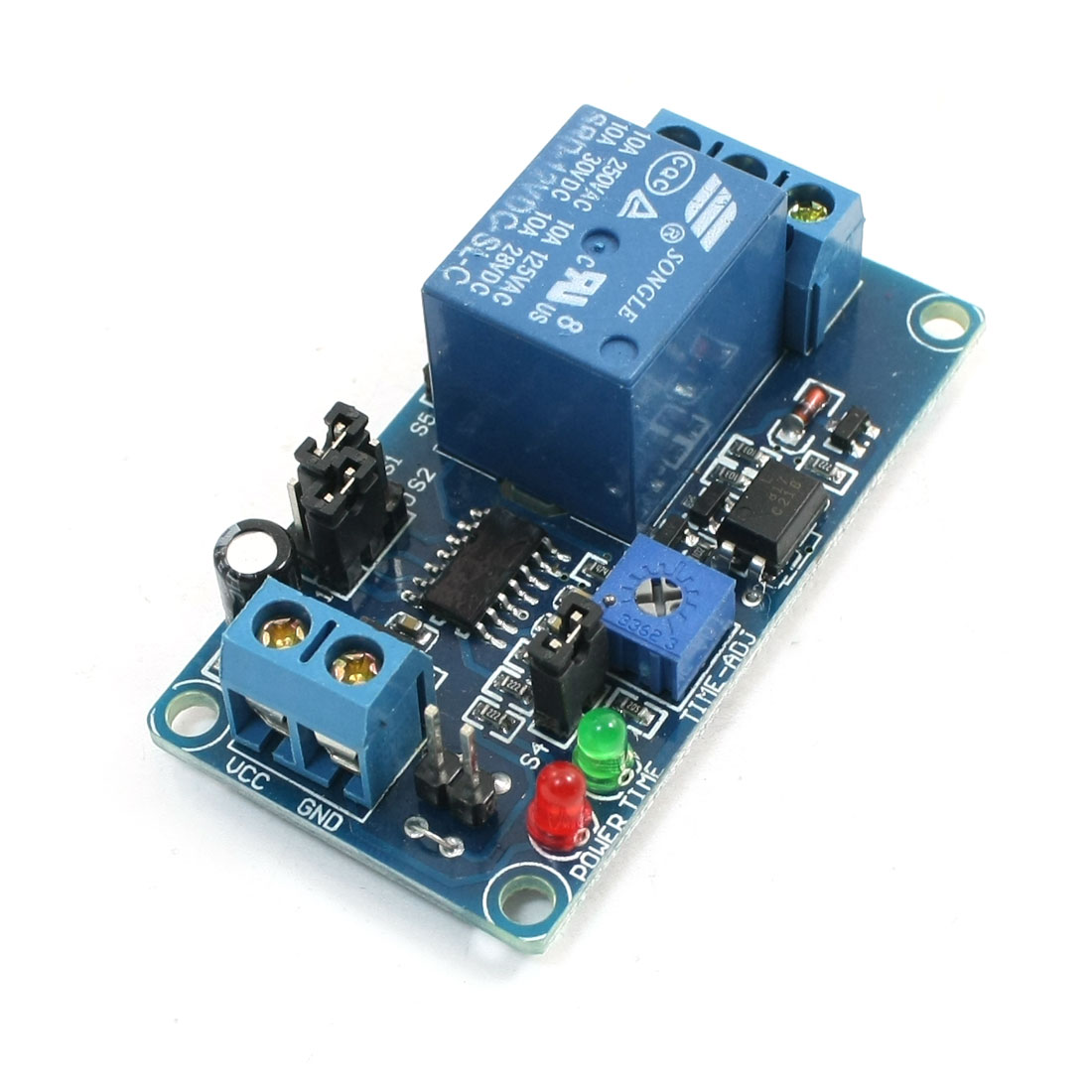 Normally Closed Trigger Adjustable Delay Time Relay Module DC 12V
