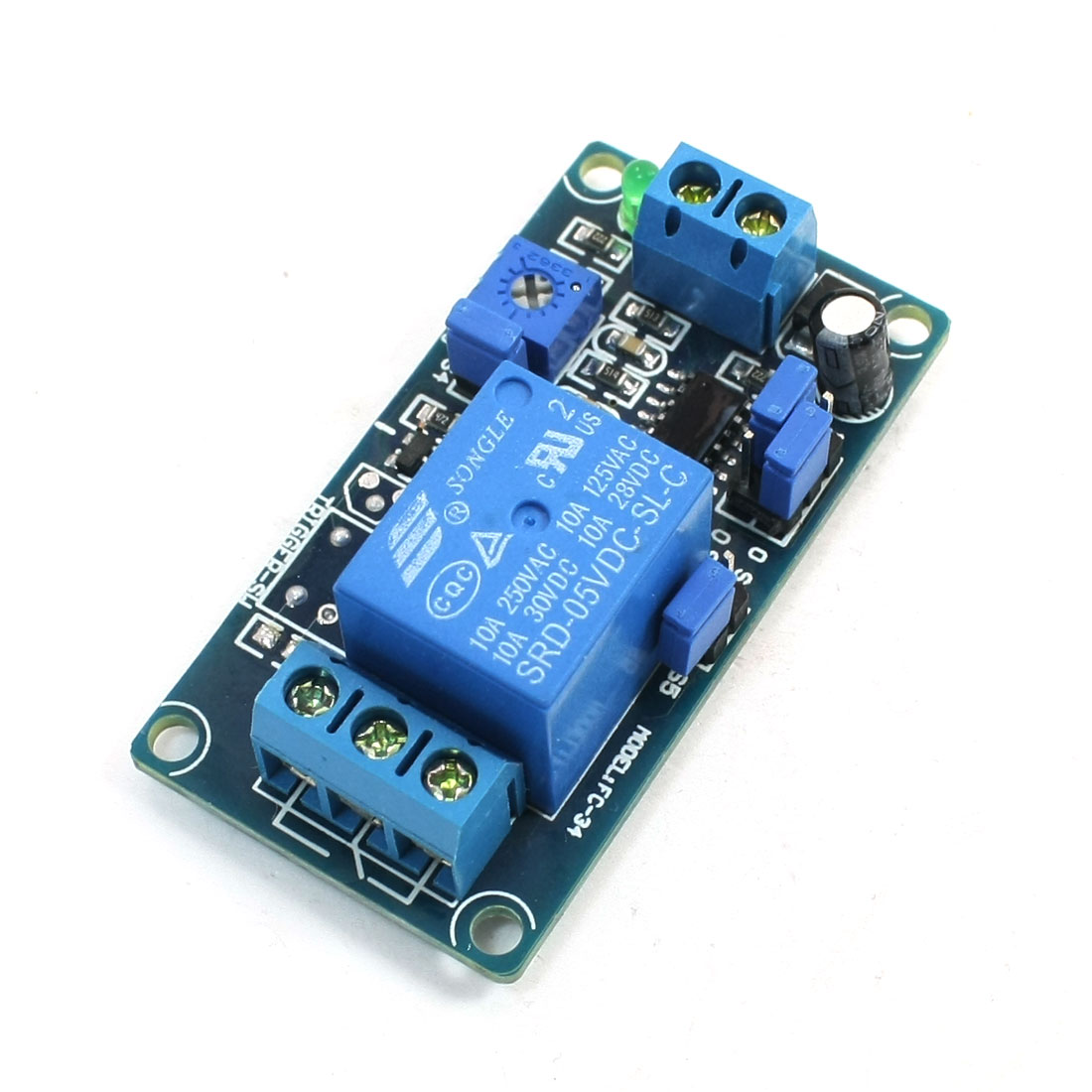 Optocoupler Adjustable Delay Time Relay Module 5V DC 10A