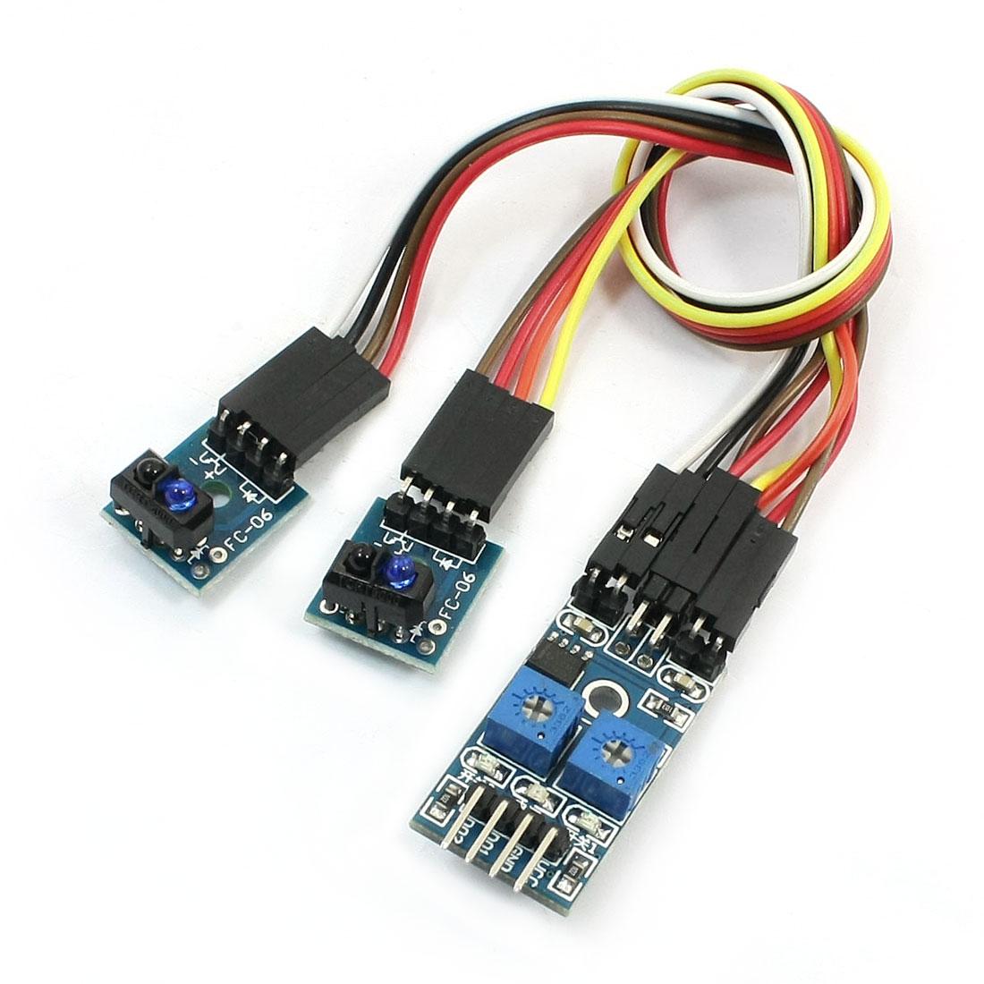 TCRT5000 2Channel Infrared Line Track Follower Sensor Module for Smart Car
