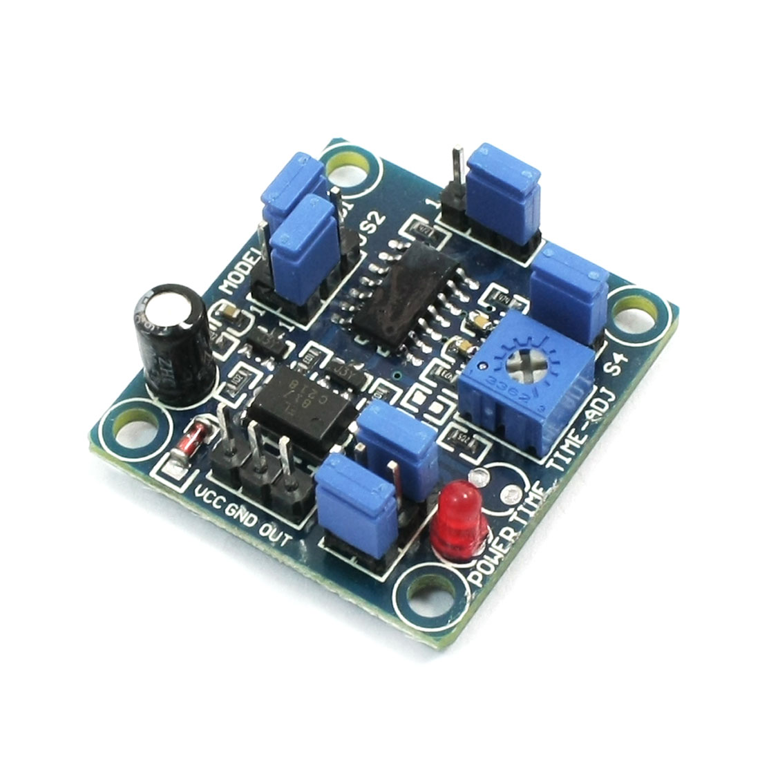 DC 4-12V High Low Level Triggered Multifunctional Delay Module Blue