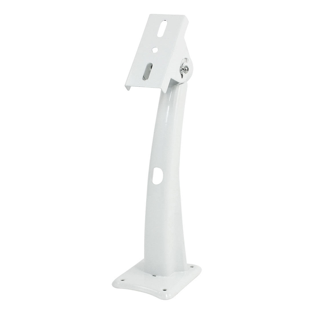 "DVR CCTV CCD Camera Adjustable White Metal Bracket Stand 8.7"" High"