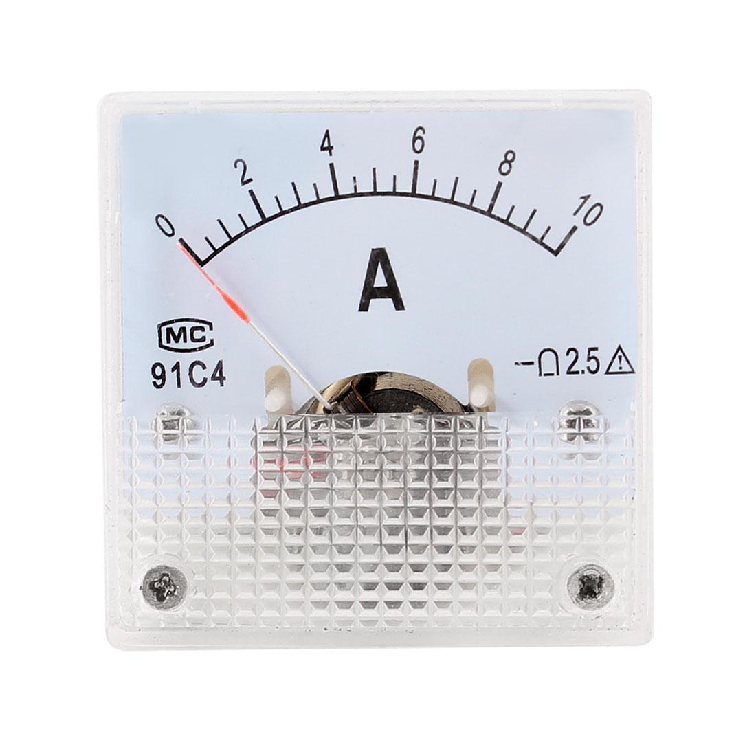 0-10A Ampere Needle Panel Meter Amperemeter 91C4