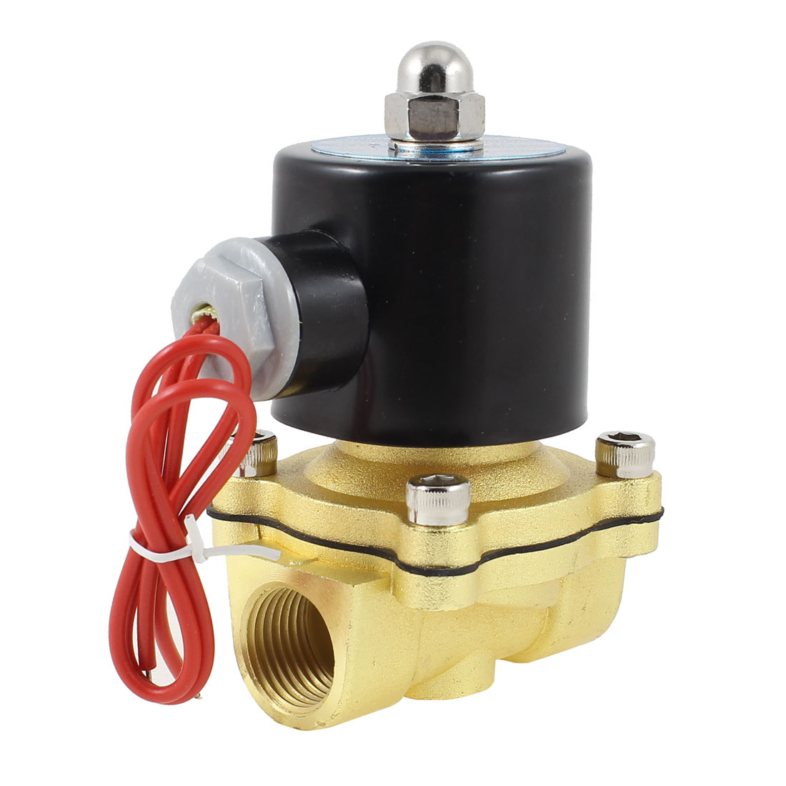 "2W-160-15 AC220V 16mm Pore 1/2"" Two Position Two Way Solenoid Water Valve"