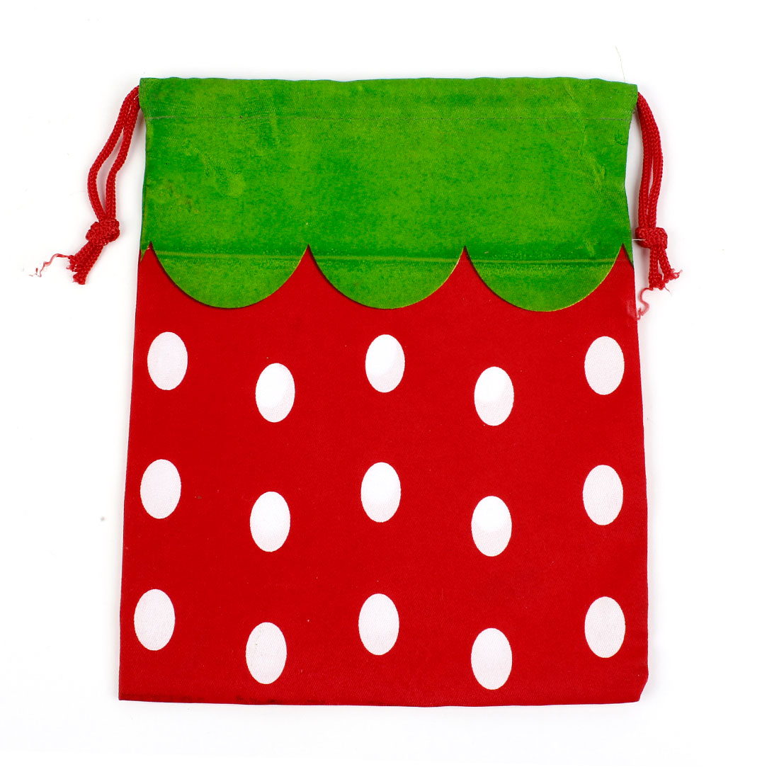 Red Green Dots Pattern Cartoon Drawstring Camera Tablet Pouch Case Bag