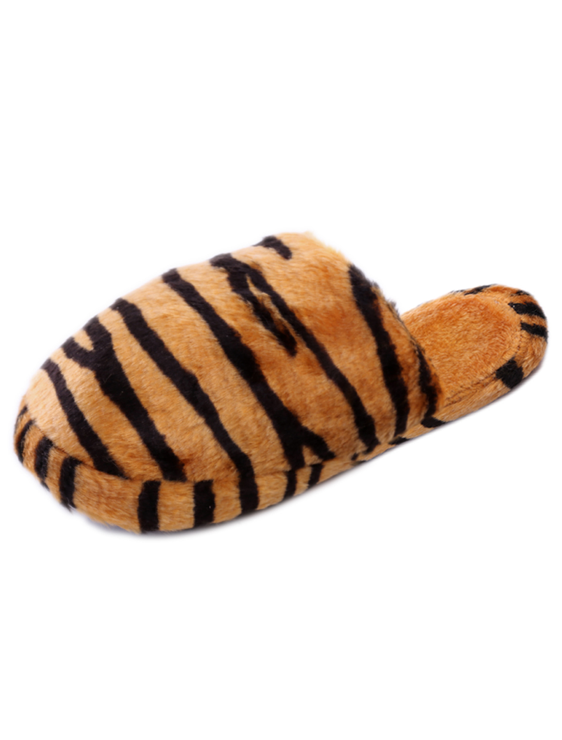 Man Stylish Tiger Pattern Inner Indoor Yellow Slippers US 8