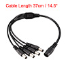 "37cm 14.5"" 2.1mmx5.5mm Connector Head Female 1 to 4 Male F/M DC Power Cable"