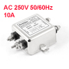 AC 250V 10A Noise Suppressor Power Single Phase EMI Filter