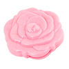 Pink Plastic Rose Design Dual Side Foldable Pocket Compact Mirror