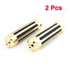 2 x Motorcycle Antislip Rubber Metal Handlebar Cover Protectors Black Gold Tone
