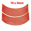 "16 x 34cm Long Car Tire Wheel Rim Red Decal Decorative Sticker for 18"" Wheels"