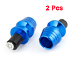 2PCS Vehicle Motorcycle Blue Aluminum Alloy Hand Brake Cover Holder Handle Plug
