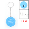 Sewing Tailor Press Button Retractable Ruler Tape Measure 1.5M Blue