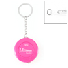 1.5M Fuchsia Round Case Retractable Ruler Tape Measure w Keychain