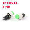 5 Pcs DS-450 250V/AC 2A Latching SPST Push Button Switch Green
