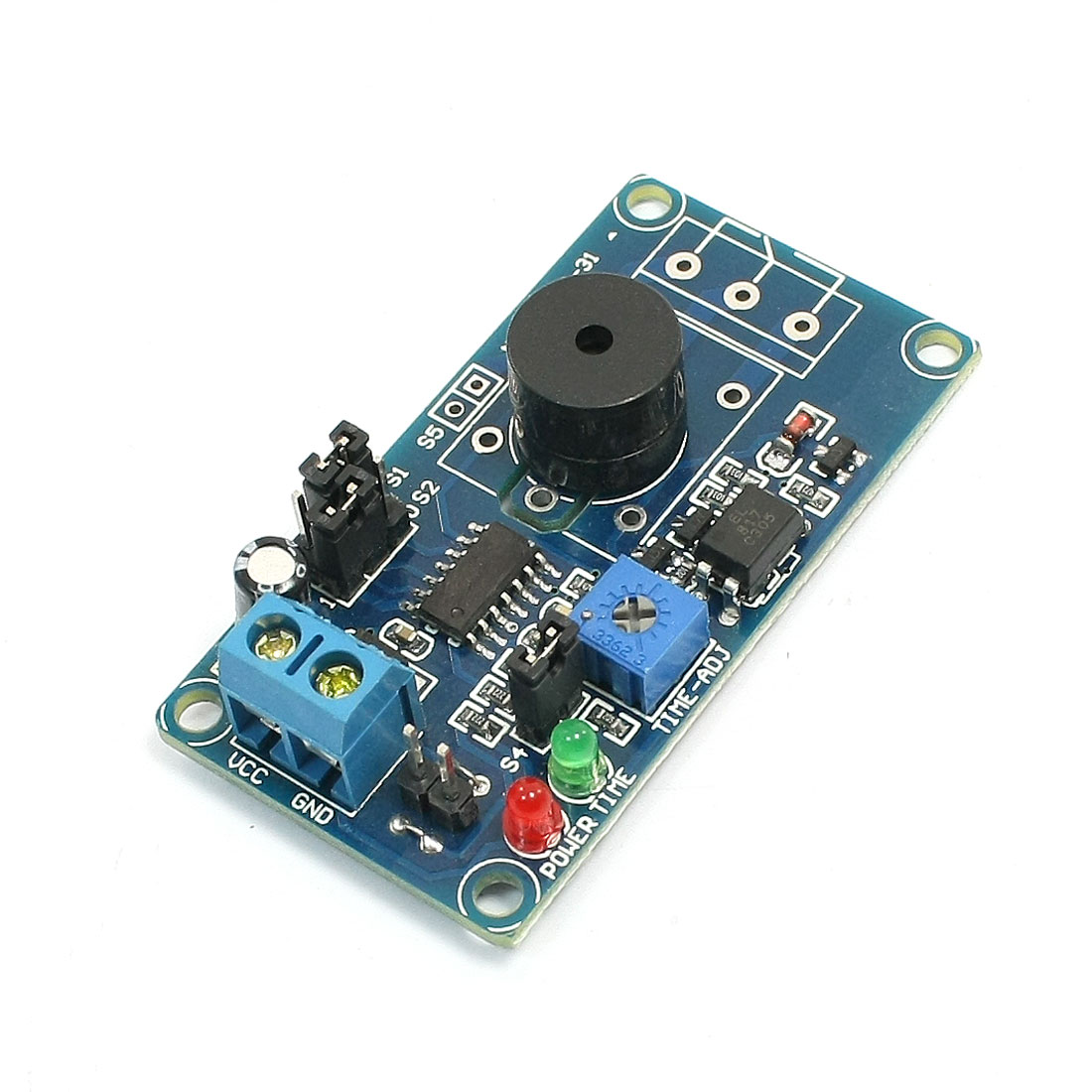 DC 5V 0.1S-1H Adjustable Time Delay Relay 85dB Alarm Module Board