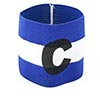 Letter C Printed Football Game Elastic Polyester Armband Blue White