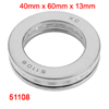 Auto 42mm x 59mm x 13mm Carbon Steel Axial Thrust Ball Bearing 51108